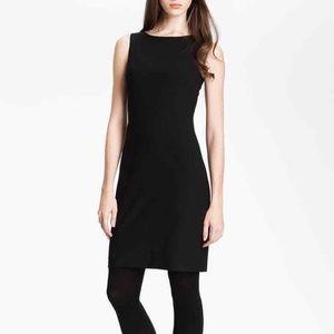 Theory Black Sheath Wool Dress Betty Tailor